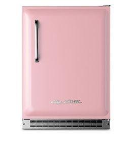 Retro pink mini fridge! Super cute and handy!