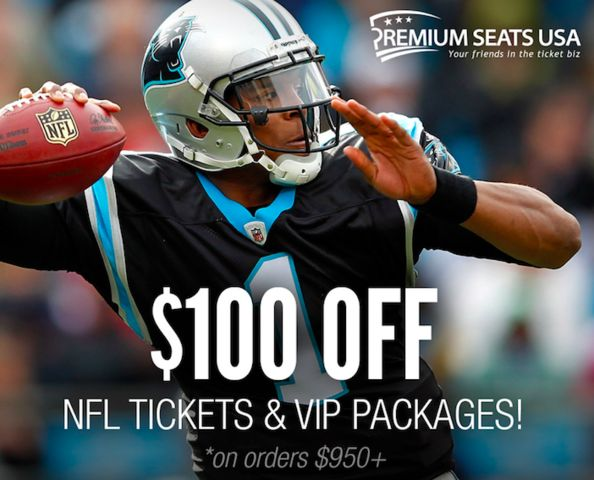 Hey football fans! Save $100 off NFL tickets and packages on orders of $950 and up when you use your Abenity Discount Program! http://discounts.abenity.com/perks/offer/837:45303