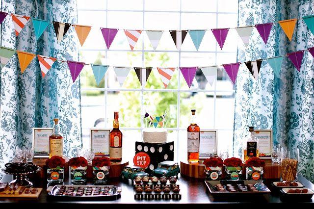 Fiesta para hombres inspirada en el Whisky. links para imprimibles e imágenes.