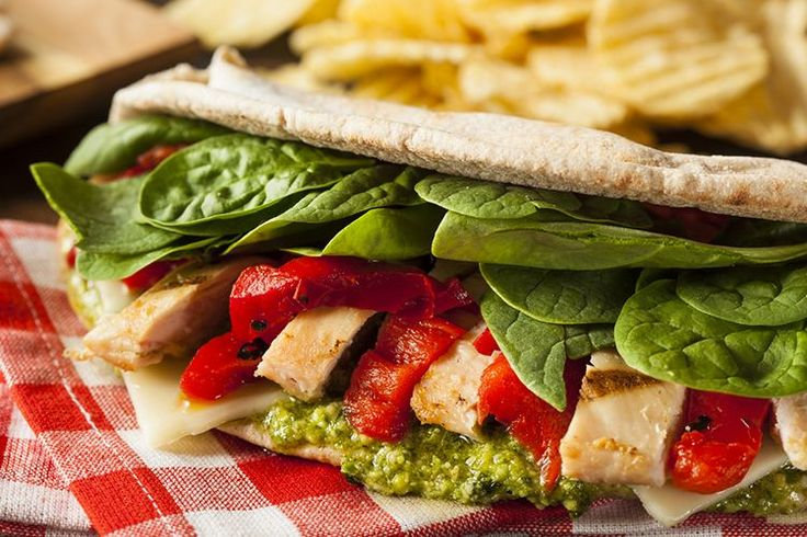 This Chicken Pesto Pita makes a perfect lunch, whether at home with family or on-the-go at work.