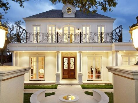 wrought iron   Google   Architecture  French provincial home House Facade house