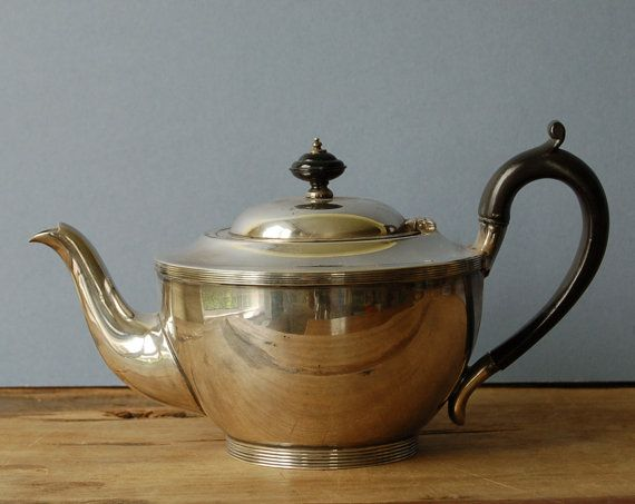 Art Deco silver plate teapot by Harrison Brothers & by nancyplage, £30.00