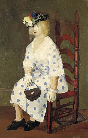 """""""The Polka Dot Dress"""" by George Luks. 1927 oil on canvas. She looks a tad tiddly, that woman. In the collection of The Smithsonian American Art Museum, Washington, DC. Gift of Mrs. Howard Weingrow."""