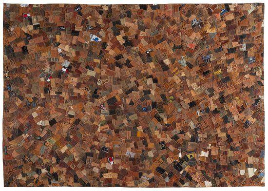 LaForma Vloerkleed Yul - gerecyclede Jeans labels - 160x230 cm