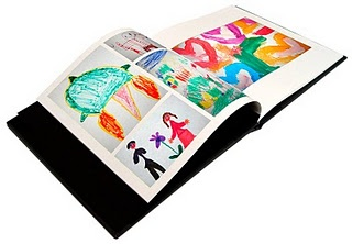 saving children's art - scanned, made into a hardcover book. LOVE THIS IDEA!