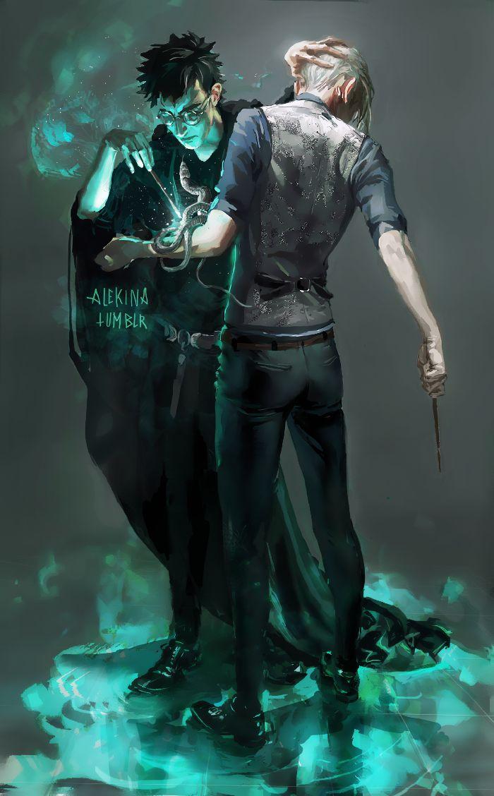 Dessin, très belle inspiration de Harry Potter avec Draco www.socreative.be