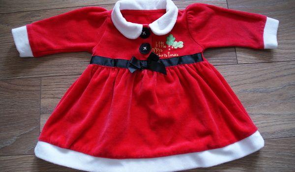 Sukienka Mikołajowa 62/68 http://dzieciociuszek.pl/products/29231