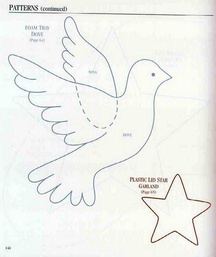 Moldes de palomas para el 25 de mayo - Imagui