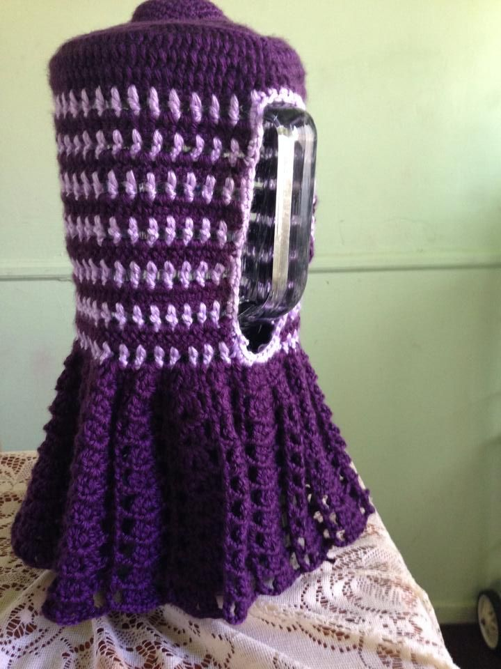 purple Crochet Blender cover by MyDearGlory
