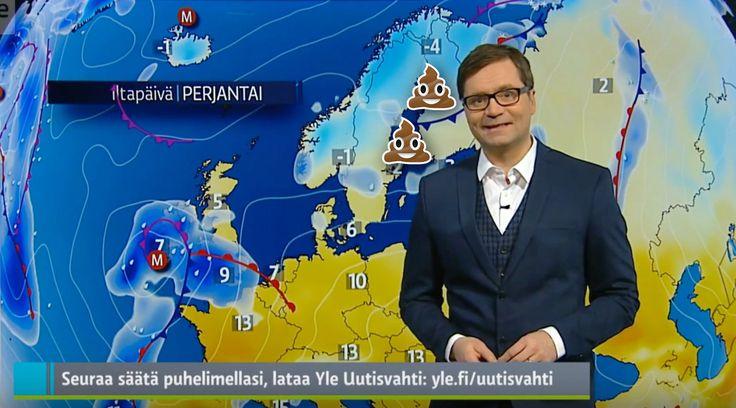 Kerrankin meteorologi joka ennustaa oikein!Video: https://youtu.be/ZI2_IxautdQ #meteorologi #yle #lottovoittosyntyäsuomeen