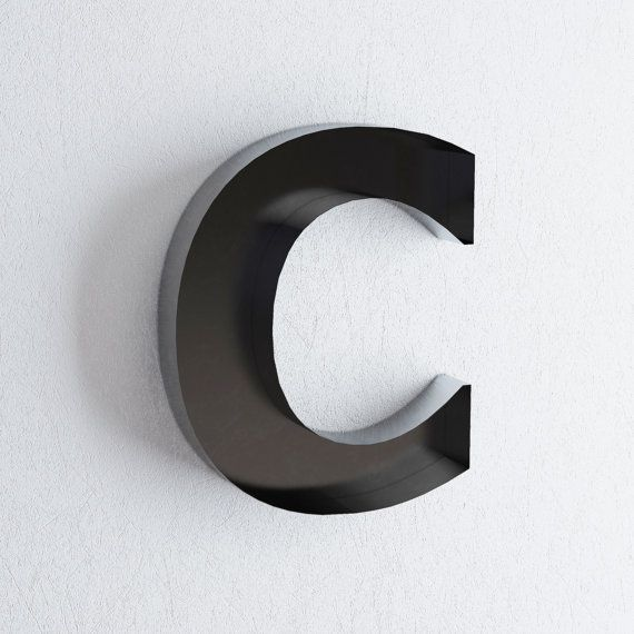 """wall hanging letters - """"C"""" sign letter - wall decor letters / 'C' metal letter / large letter C"""