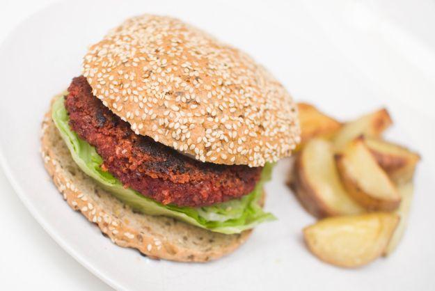 Several veggie burgers