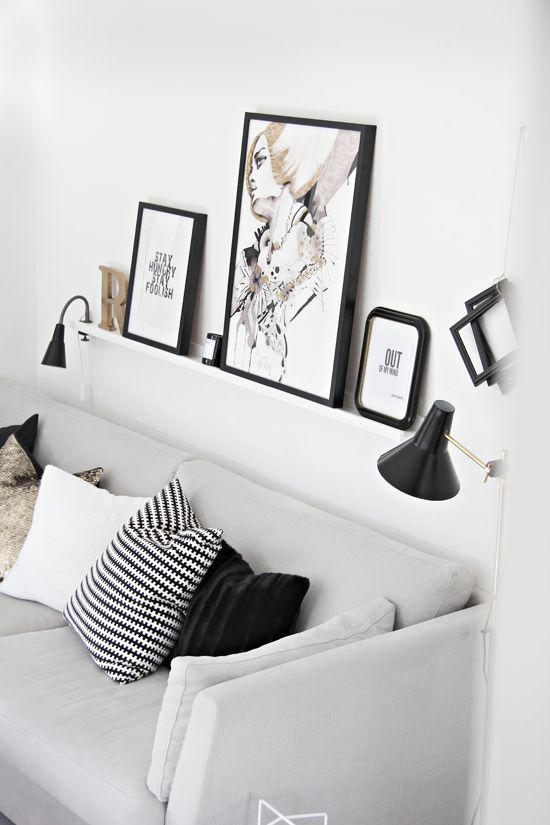 cuadros detrs del sof