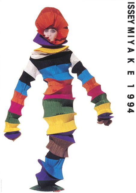 ISSEY MIYAKEコレクションポスター、1994年SS写真:アーヴィング・ペン、ポスターデザイン・タイポグラフィ:田中一光