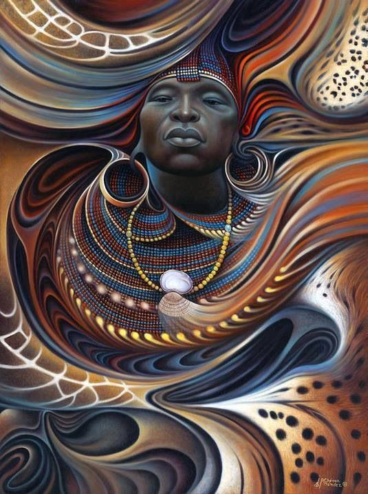 African Art*  I thought this artist beautiful work could best represent the face of real life African(American) Edward Mozingo-An Angolan Warrior captured during the  Portuguese-Angolan Colonial Wars (14th-20th). Edward Mozingo became one, if not the first, African indenture in Colonial English America to fight in court for his freedom, and win. His descendants are of multi-ethnic backgrounds.   * art not a rendering of Edward Mozingo