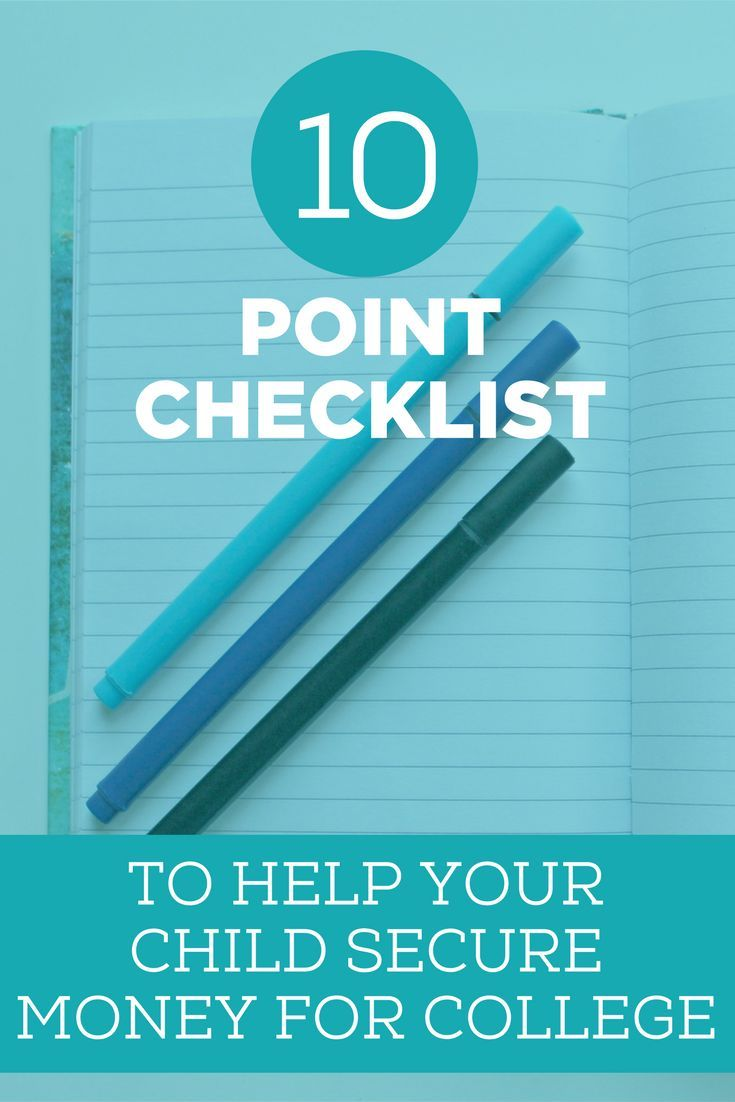Free checklist to help your child secure money for college
