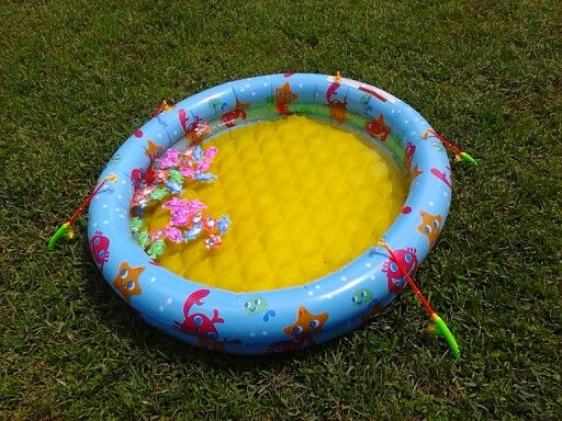 Bubble guppies party idea outside fishing game for Bubble fish game