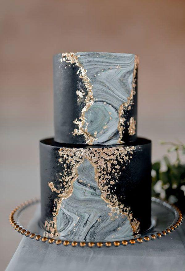 Black Wedding Cakes Johannesburg, South Africa Pink Book #weddings #weddingcakes #cakes