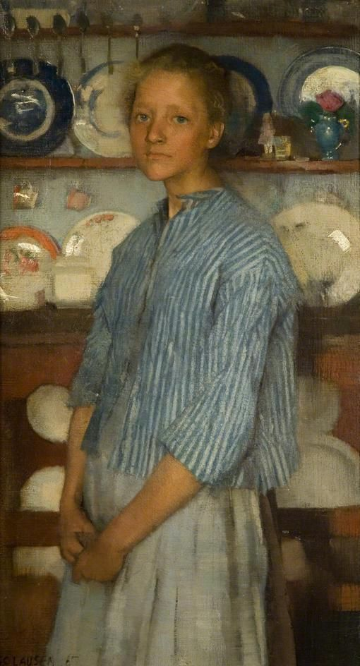 George Clausen (1852-1944) Normandy peasant, 1887: