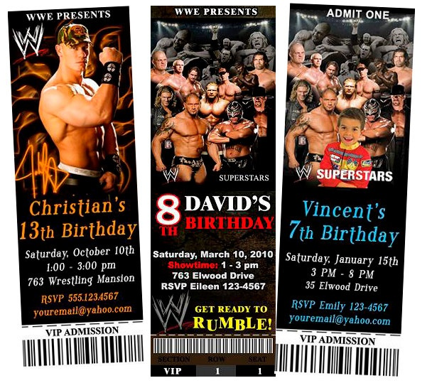 17 Best images about WWE party – Wwe Party Invitations