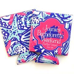 Bachelorette or Birthday Party Nantucket or Martha's Vineyard Lilly Coozies