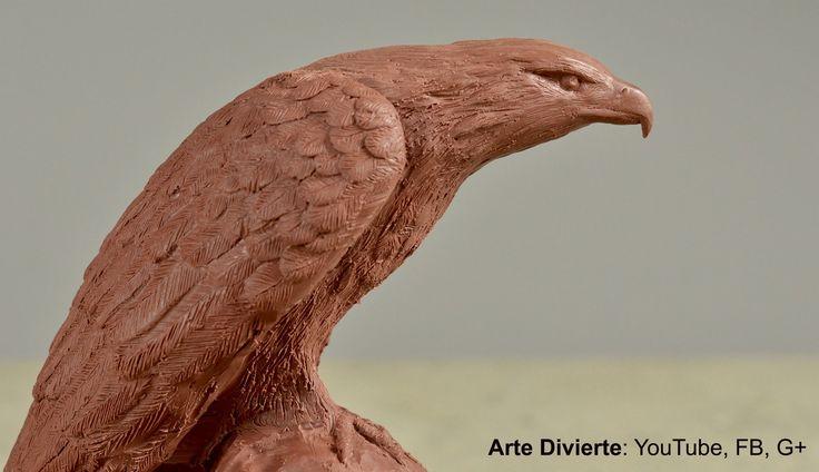Cómo esculpir y moldear un águila en plastilina - Arte Divierte. - YouTube