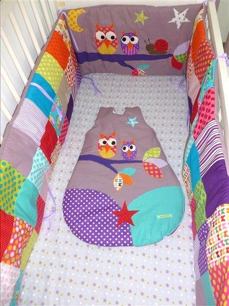 Des hiboux, des gigoteuses et des tours de lit personnalisés | Pistache & Chocolat - Gigoteuses, tours de lit, housses de matelas à langer, tout pour bébé, cousu main