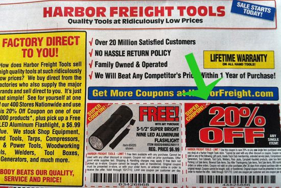 NEWS flash! Use Harbor Freight 20% off coupon at Lowe's. . . – Queen Bee Coupons