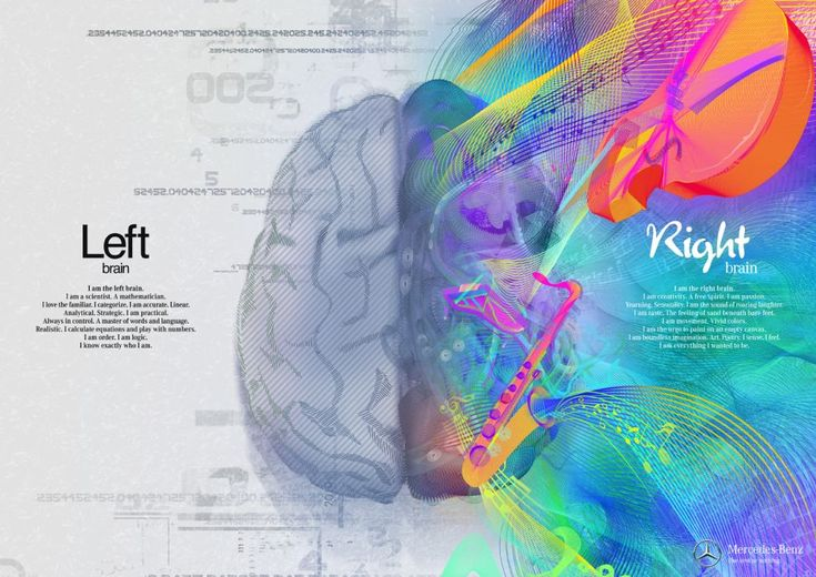 Left Brain/Right Brain: Gorgeously Illustrated Mercedes Benz Ads | Jeannie Huang