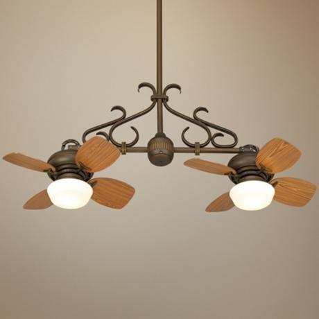 Double ceiling fan