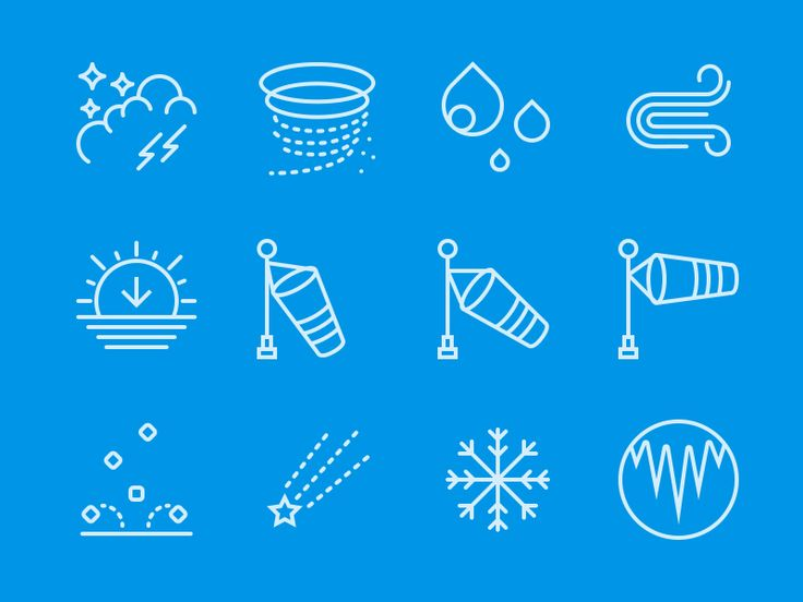 Dribbble - Weather Icons - First category from my Icon Set by Oliver