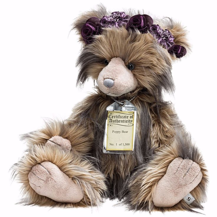 Silver Tag 5 Poppy Bear Collectible Limited Edition Teddy from Suki