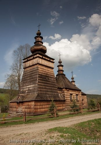 Greek Catholic church, Beskid Niski, Poland.  www.simplycarpathians.com