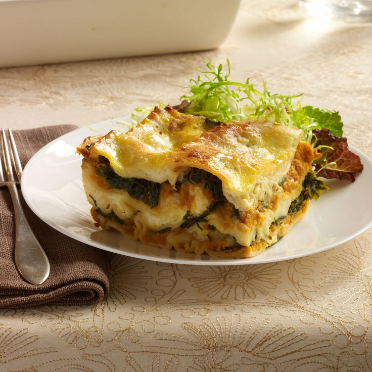 Pumpkin Lasagna with Ricotta and Swiss Chard   Food & Wine ~This super-creamy lasagna is perfect for a vegetarian main course. What makes it especially unusual is that it's made without tomato sauce.