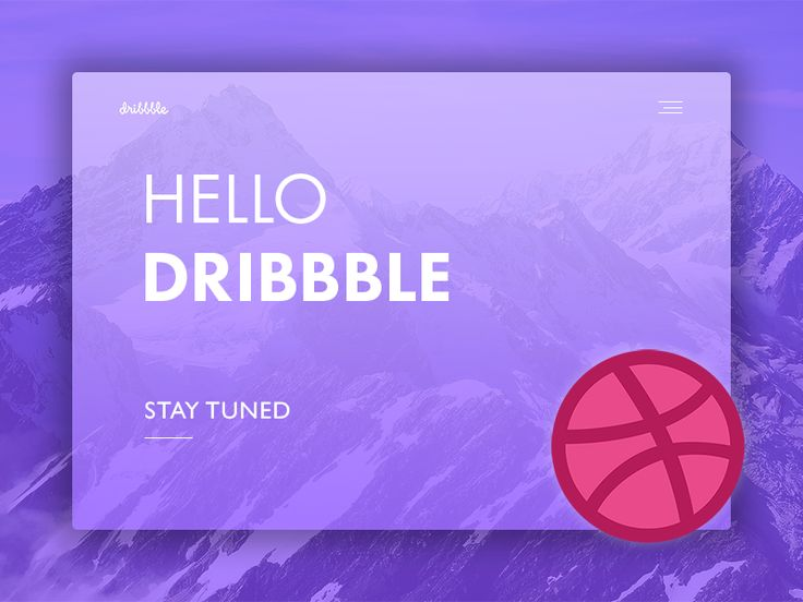 Hello Dribbble! by RB Web Design