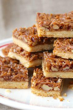 Praline Pecan Coconut Shortbread Bars from Karen's Kitchen Stories