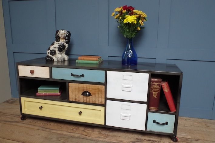 How cool is this? Just popped round to see the gorgeous new stock at our neighbours, www.vincentandbarn.co.uk , and spotted this funky sideboard. I think it would be a really stunning focal piece sitting in a cottage or modern apartment interior. Low Sideboard, £455.00