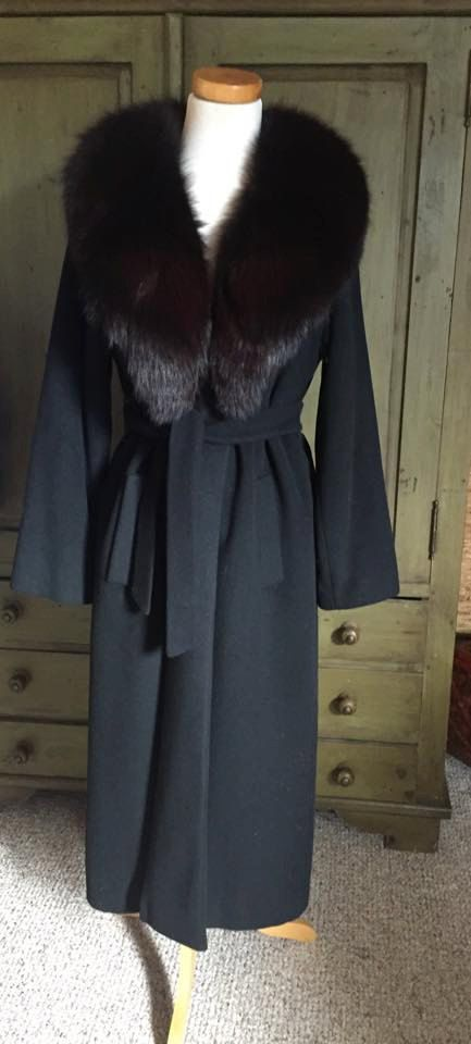Vintage Regency Cashmere Fur collar Coat by generations1969