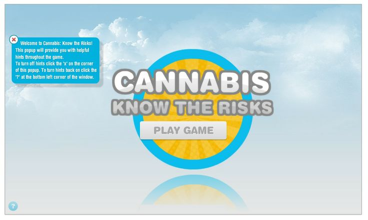 Cannabis - know the risks - online game - NCPIC - National Cannabis Prevention and Information Centre