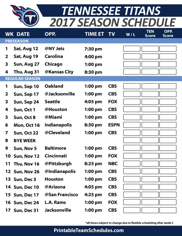 17 Best Images About Nfl Football Schedule 2017 On