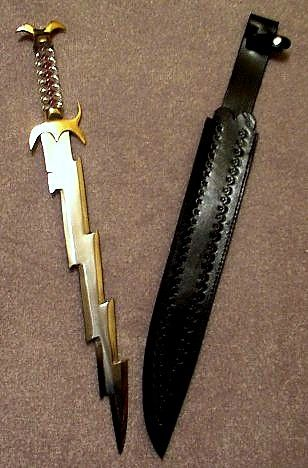 Lightning sword but it only works for zeuses children, so i cant use it, but someone else can>>>means I can!