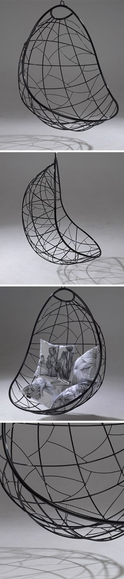 Hanging Chair Nest Egg Black. Www.studiostirling.co.za