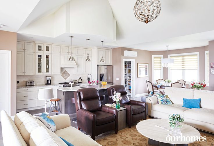 """This light fixture was a design inspiration for the homeowner long before the house was built.    See more of this home in """"She Loved this Chandelier and Built a House to Suit It"""" from OUR HOMES Wellington County Orangeville Caledon, Summer 2017: http://www.ourhomes.ca/articles/build/article/she-loved-this-chandelier-and-built-a-house-to-suit-it"""