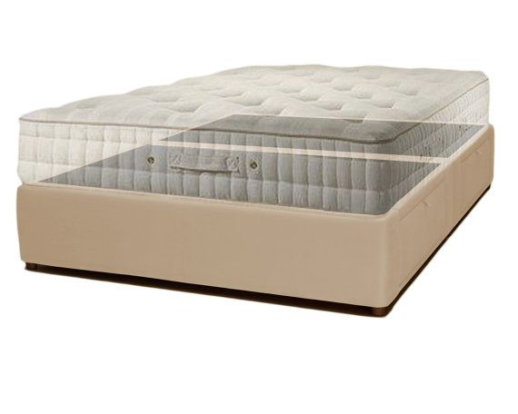 Elegant Upholstered Platform Storage Bed with Underneath Drawers Queen Bed Frame King Bed Frame Free Shipping Hand Made in the USA Beige