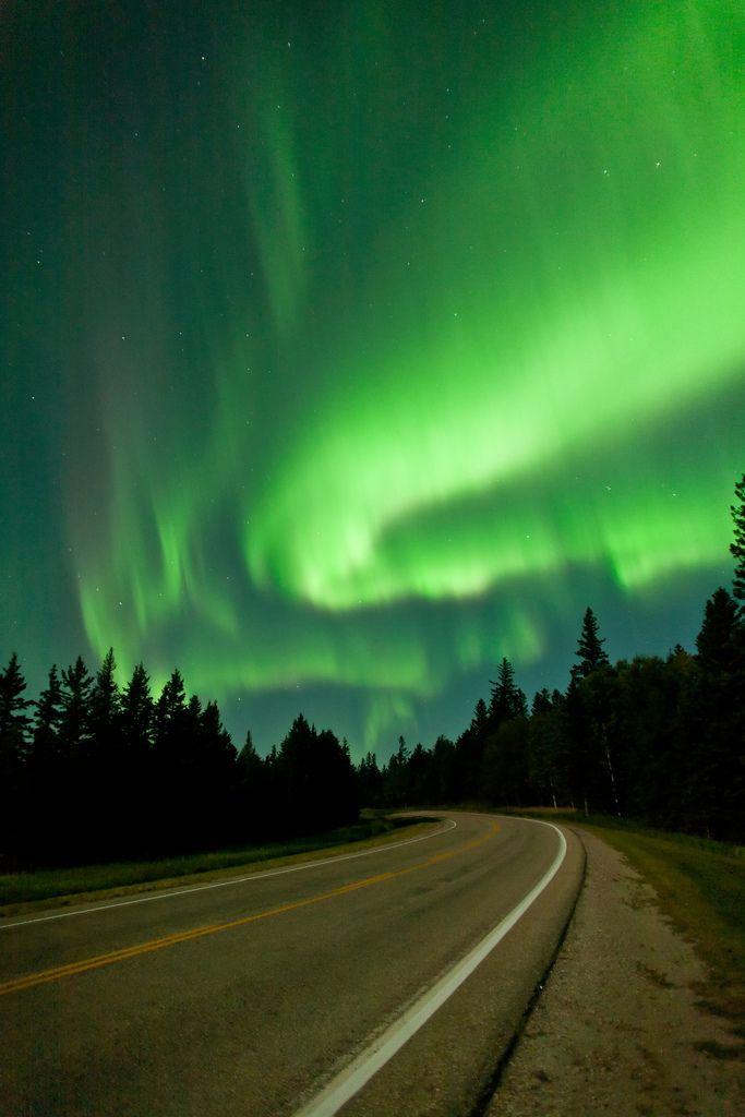Riding Mountain National Park, Manitoba, Canada byWarren Justice Aurora borealis