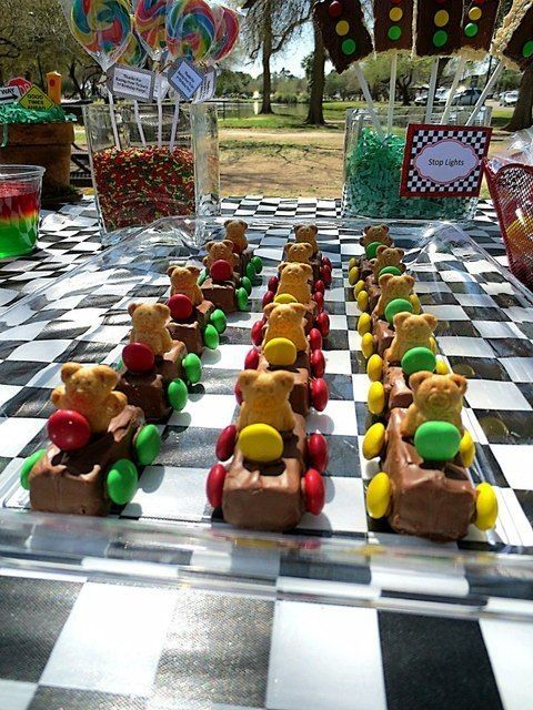 Teddy graham cars at a Cars Party #cars #party by marjorie