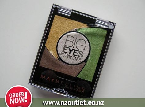 """#Maybelline Big Eyes By #EyeStudio 02 Luminous Grass Maybelline Big Eyes 02 Luminous Grass. Colour group: Green, Color name: Luminous Grass, Country of origin: Italy. Package width: 2.6"""" (6.6 cm), Package length: 2.05"""" (5.2 cm), Package height: 0.433"""" (1.1 cm) http://nzoutlet.co.nz/product/product_details/bigeyes02grass"""