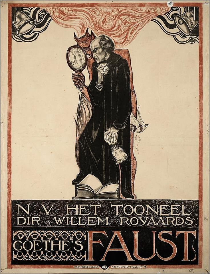 Richard Roland Holst cartel, el Fausto de Goethe, 1918