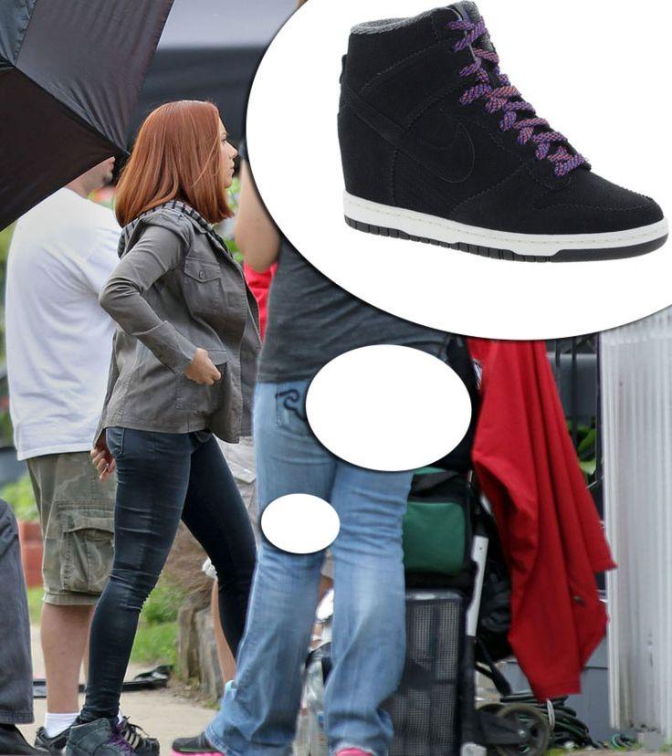Natasha Romanoff Black Widow Nike black sneakers Captain America