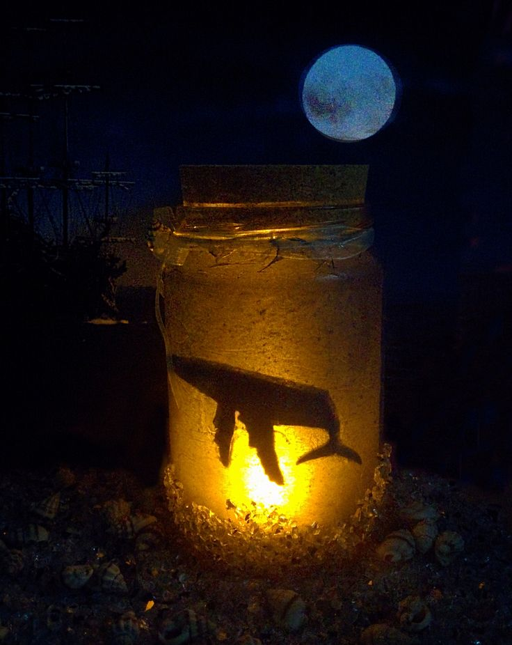 Deep Sea Jar, Whale, nightlight